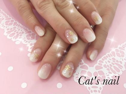 #白グラデーション  #雪のシール Cat's nail所属・原口芹香のフォト