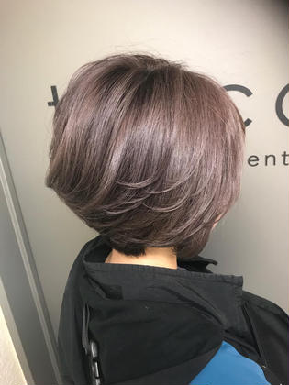 カラー ショート lavender ash✂︎ ベース.ブリーチ3回