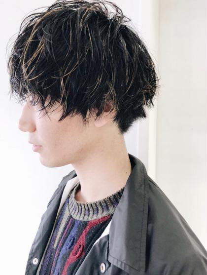 抜きっぱなしメンズハイライトカラー☆ 菅原誠のメンズヘアスタイル・髪型