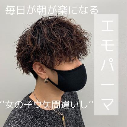 カット+パーマ7700円