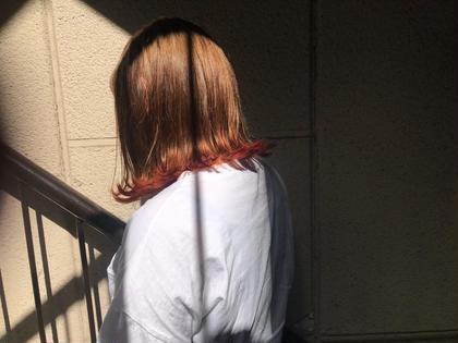 裾にcarrot orange... KiRANA SARI所属・ジョウイッセイのスタイル