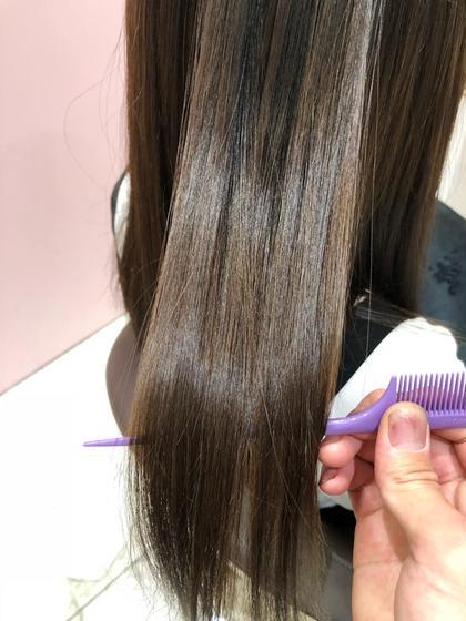 《当店人気メニュー》カット+髪質改善縮毛矯正+トリートメント