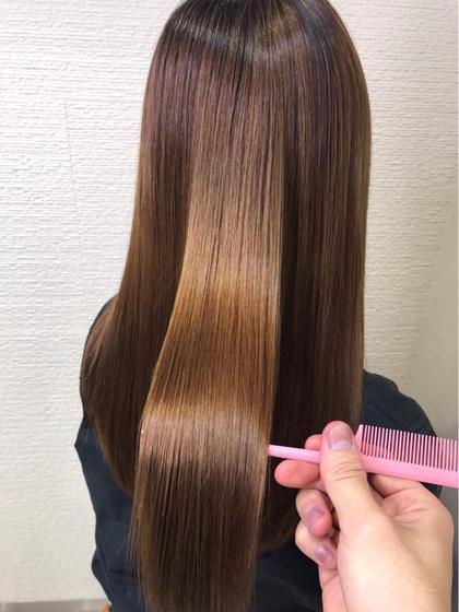 【ボリュームを抑えたい方、美髪にしたい方】サラ艶ストレート✨&トリートメント
