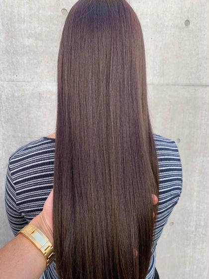 カット&ヘアカラー&縮毛矯正《ストレート》&3ステップ超音波トリートメント炭酸スパ《髪質改善にこだわります✨》