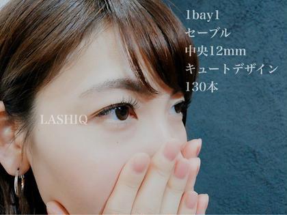 【デザイン】 1bay1 セーブル 太さ/0.15mm 長さ/中12mm キュートデザイン 130本  【初回限定】 シングル(セーブル) 130本 他店オフ込み ¥5500→¥4000 LASHIQ所属・LASHIQラシックのフォト