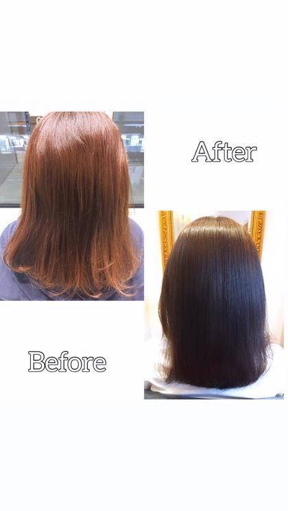 ❤️色落ちでお悩みの方へ❤️フルカラー+髪質改善+色持ちトリートメント+メンテナンスカット