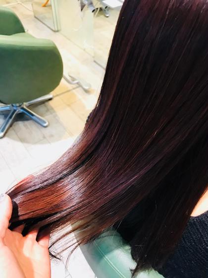 藤本佳澄のロングのヘアスタイル