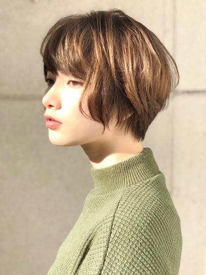 ショート ⭐️似合わせ保証ショート⭐️ 直毛の方はパーマをかけるとより柔らかい印象に✨