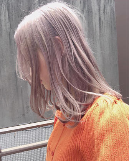 🌿ダメージレスケアブリーチWカラー🌿髪質に合わせる選べる3ステップトリートメント+コテ巻き🌿