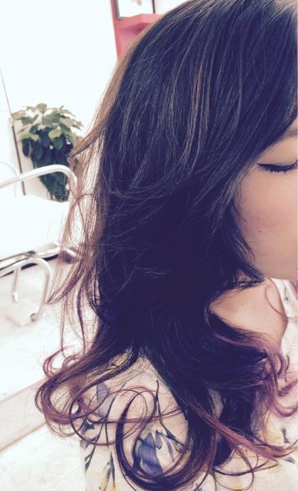 ウェーブスタイル、ヘアマニキュア(パープルアッシュ系) ajuga hair所属・hamadayukiのスタイル
