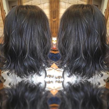 ブリーチ一回からのブルーラベンダーで鮮やかにしっかりと出しました! hair design PAUL所属・外国人風カラーデザイナー松本尚弥 のスタイル