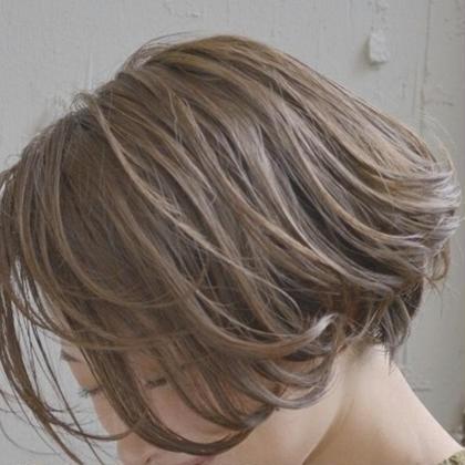 ナチュラルベージュ&ショートボブ 武本 俊文 (美容歴12年)のショートのヘアスタイル
