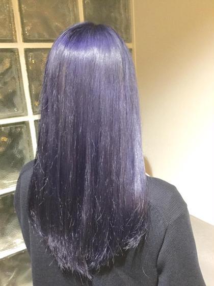 オルディーブアディクシーを、 ブリーチ毛にカラーリングしました!  サファイア×アメジストを使用したカラーになります。  ブルーバイオレットの色味100%です。 クリエイティブにされたい方、交渉致します。   (この色味は、落ちやすいのとお時間とお値段の交渉になります。) ALBA  HAIR RESORT所属・山口哲平のスタイル