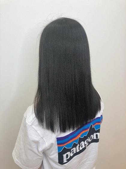 ストレート で 髪の毛 サラツヤ に👯 NYNY 姫路広畑店所属・齋藤らいのスタイル