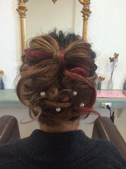 hair set〻  リボンアップヘア🎀 他の方と被りたくない方にオススメ💗  ※髪の毛の長さによっては出来ない場合もございます🙇 一度ご相談ください。 VOGUE LOGIC所属・馬場明日香のフォト