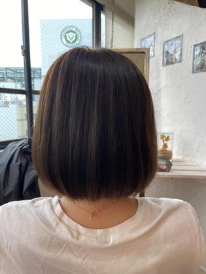 《❤️さらツヤ❤️カラー付き》カット+カラー+ネオリシオ縮毛矯正+トリートメント