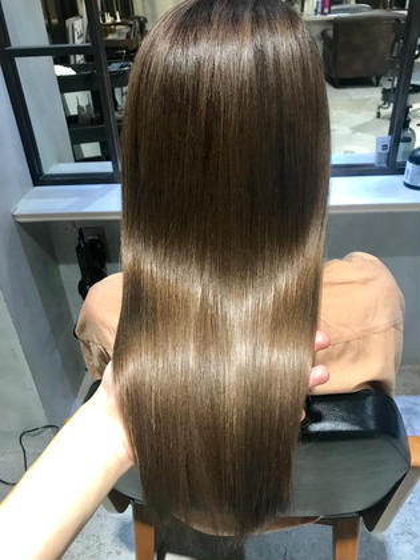 ボリュームダウン×手触り✨ 🔹《髪質改善ストレート》➕《カット》➕《トキオtr》 【ボリュームが気になる方はこちら】