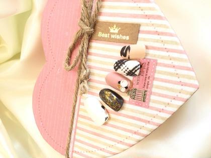 バレンタインネイル (デザインネイル3800円) ラ・ヴィリエ所属・ラヴィリエのフォト