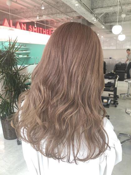 【🌈リピートNO.1🌈】前髪カット+外国人風グロスカラー+1ステップトリートメント