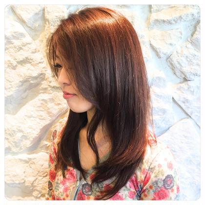 ショコラ系のカラー✂︎ こちらもオーガニックカラー✂︎ 傷ませたくない方にオススメです✂︎ Hair Resort THE AMAN GIRL所属・オグラタカヒロのスタイル