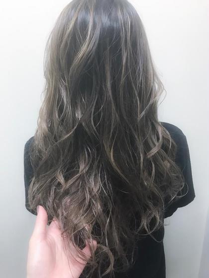 外国人風ハイライト✨ 藤井正伸のロングのヘアスタイル