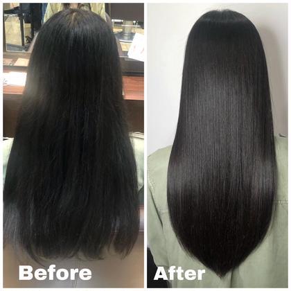 《 SNSで話題の超音波アイロン》髪質改善グラストリートメント🍎癖毛や髪の痛みが気になる方にオススメ🙌2.3週間持続
