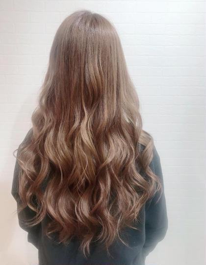 ✨オーガニック全体カラーPlus色持ちup💕トリートメント付き✨白髪染め対応カラーです✨コテ巻き仕上げもok✨