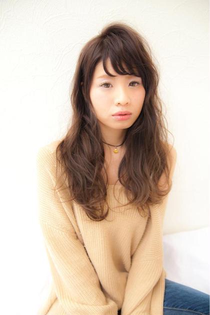 透明感のあるラベンダーカラー 巻きスタイルで、より透け感のある髪に♪ FLEAR generous所属・ナカシマハルカのスタイル