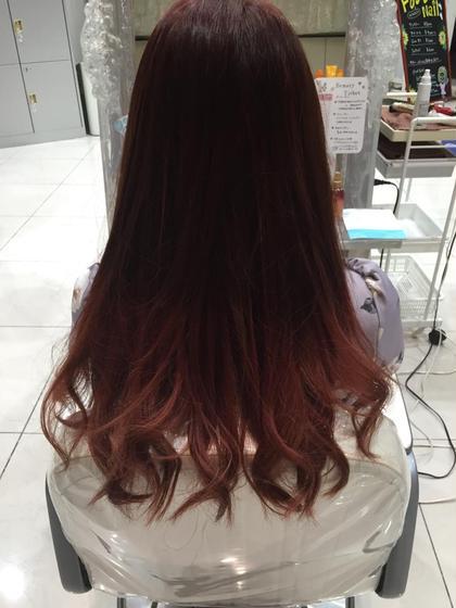 フェミニンにピンクでグラデーションです♪ Ash関内店所属・深海弘樹のスタイル