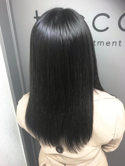 カラー セミロング cut / dark gray / tokio✂︎ 艶感と透明感⭕️