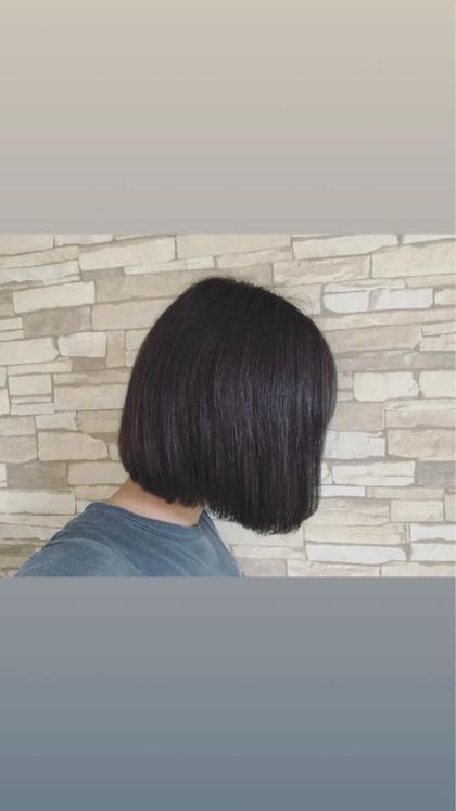 ○ボブ ○THROWカラー ○バイオレットアッシュ ○Aujuaトリートメント Hair&MakePOSH所属・杉本はるかのスタイル