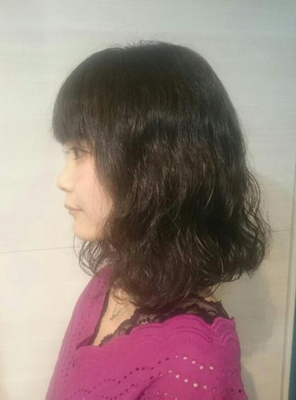 ワンレンボブにパーマ&カラー 1/f HAIR GARDEN所属・森隼人のスタイル