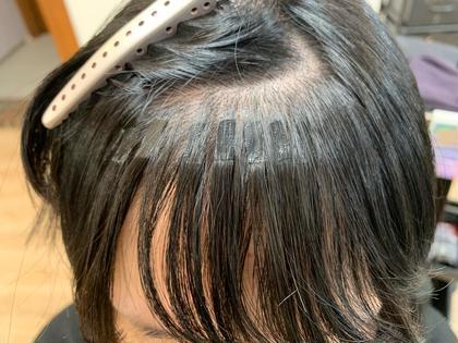 他店で前髪カット失敗されて泣きながらマーマーにご来店!  しっかりカウンセリングさせて頂き、前髪復活させました♪  最後はドクロのスタンプで失礼しまーす!