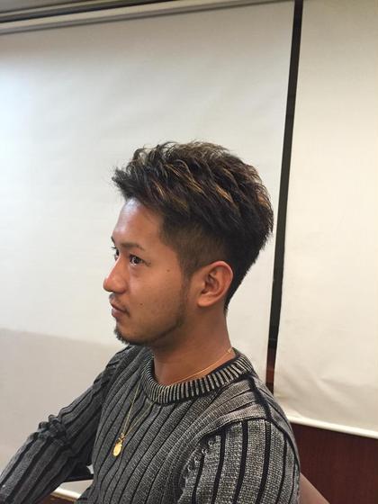 メンズカット。 メッシュ、ハイライト、刈り上げ STYLE  INDEX茗荷谷店所属・前田令輝のスタイル