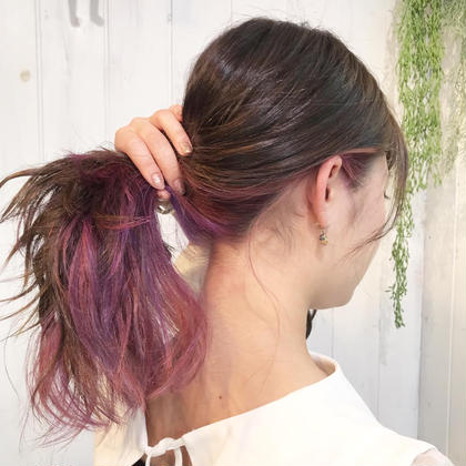 ニュアンスピンク 駒塚夏希のミディアムのヘアスタイル