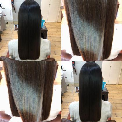 縮毛矯正+髪質改善トリートメント🕊☁️