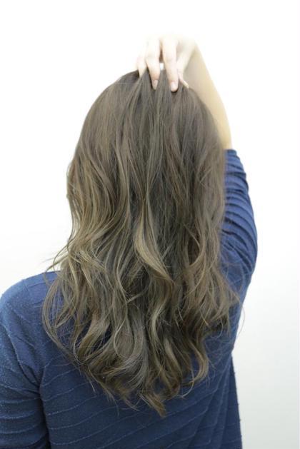 全体にハイライトにブルージュで透け感を☺︎ REGALO hair atelier所属・小野瀬裕也のスタイル