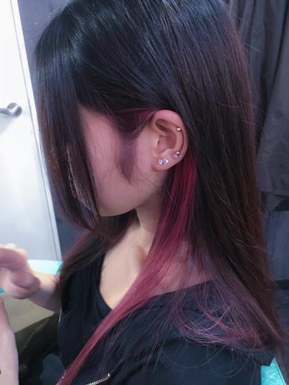 ♦️インナーカラー  裾カラー &デザインカット