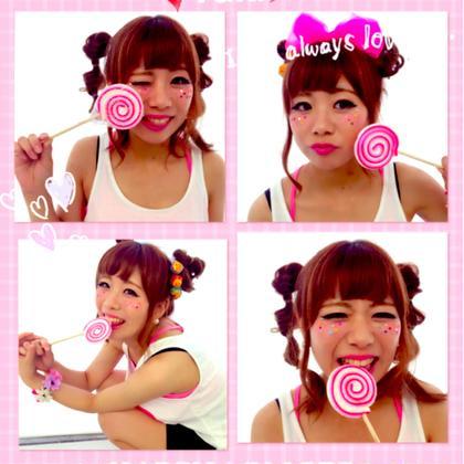 ポップなキラキラ系女子♡ 頭につけたチュッパチャップスも可愛い  Wiz bySTYLE所属・森田亜津紗のスタイル