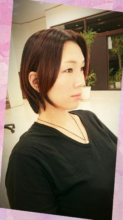 秋冬向けてイメチェントーンダウンベリーピンク(・ω・) HairVERDE所属・キンジョウエナミのスタイル