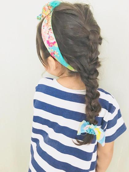 ヘアアレンジ ちょっとしたイベントやお出掛けに可愛いヘアアレンジも出来ます✨ お子様向けのヘアアレンジも可能です☆