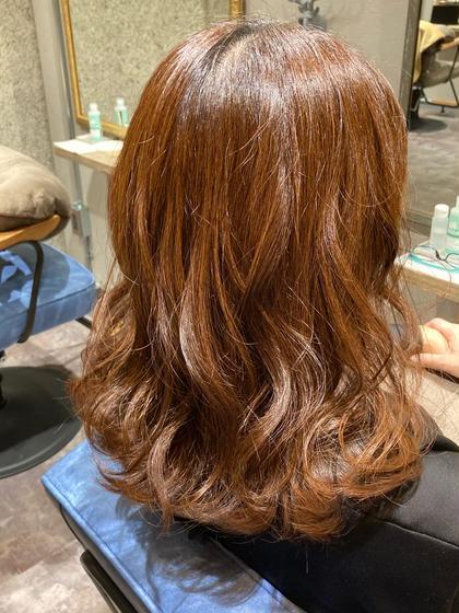 ⭕️カット&オーガニックカラー(フル白髪染め)&髪質改善TOKIO5stepトリートメントサービス⭐️ミニモ限定⭐️