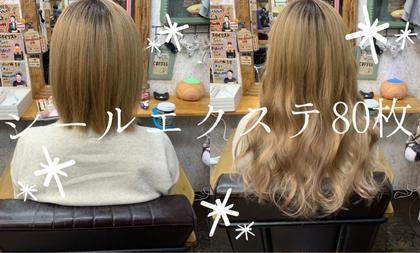 💗人毛100%💗シールエクステ1枚¥250(税込)80枚(ショートからロング)⚠️色に限りがあります