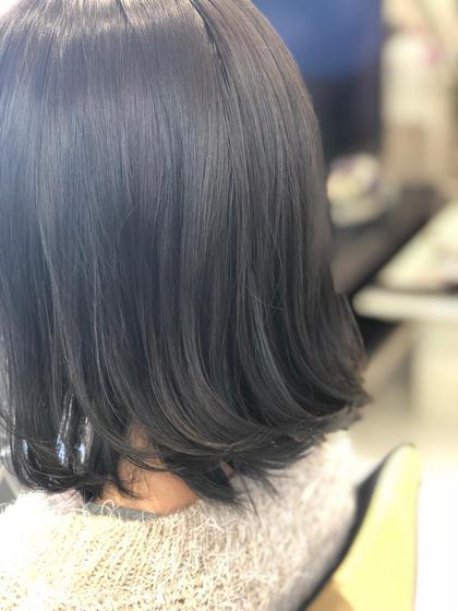 前髪カット & ヘアカラー&トリートメント