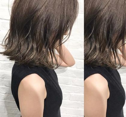 イルミナカラー×ハイライト 店長片岡達紀のミディアムのヘアスタイル