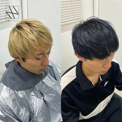 👔💈メンズ就活・インターン専用💈👔色持ち抜群🔥地毛風黒染めカラー+髪質改善高保湿4STEPトリートメント🌿