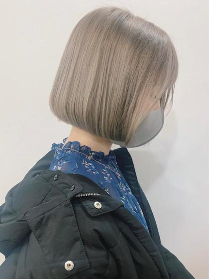 ブリーチ&美肌カラー+水素トリートメント【初回限定】