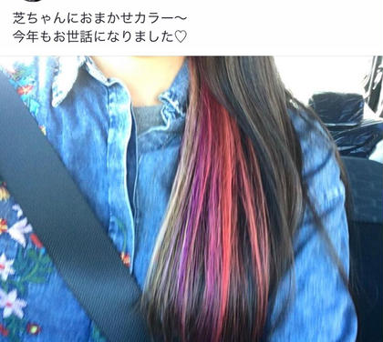 カラーもこんな感じまで出来ちゃいます♬ wiz富里店所属・芝田浩幸のスタイル