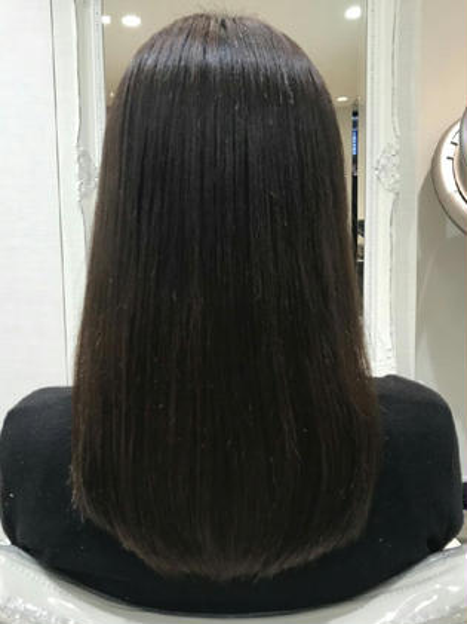 縮毛矯正でサラツヤな髪の毛に仕上げました! Ash大泉学園店所属・石川由紀乃のスタイル