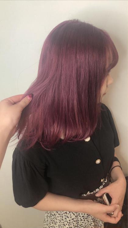 pinkpurple! ブリーチ+カラー
